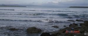 Pantai Sirombu di sore hari