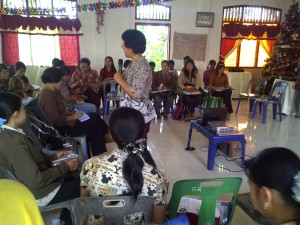Pelatihan Peningkatan Mutu Tenaga Kependidikan PAUD di Siombu, Nias Barat